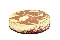 Cheesecake s bílou a tmavou čokoládou