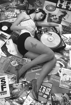 Girls with Vinyl Records - and I won't make an argument against either