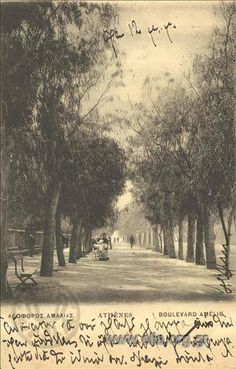 1900 ~ Amalias Avenue in Athens Greece Pictures, Old Pictures, Old Photos, Vintage Photos, Athens History, Greek History, Greece Photography, History Of Photography, Old Greek