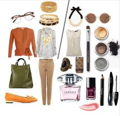 Cute clothes Casual Professional outfits with mild color blocking. Great beauty choices on Polyvore