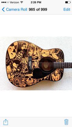 Sharpie pen guitar Kelly parra art ink pen crazy