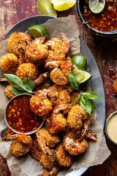 Seafood Dishes, Seafood Recipes, New Recipes, Dinner Recipes, Cooking Recipes, Healthy Recipes, Healthy Dishes, Asian Recipes, Fried Coconut Shrimp