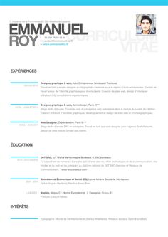Cool, modern resume, very clean, easy to read!
