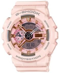 G-Shock Women's Analog-Digital Light Pink Bracelet Watch 49x46mm GMAS110MP-4A1