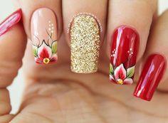 NUEVO VIDEO-TUTORIAL en mi canal de YouTube. Diseño de uñas flores a mano alzada. Link en mi bio. #uñas #decoracionuñas #dekouñas #dekounas…