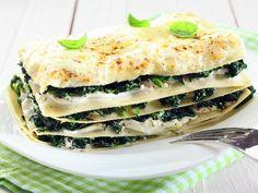 Lasagne con spinaci e formaggio di pecora