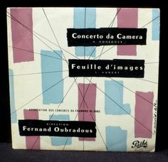 Honegger Concerto da camera  Aubert Feuille d images Oubradous LP NM -, CV EX