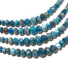 "Jay King Blue Apatite 18"" Necklace with Earrings"