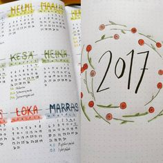 Bulletjournal yearly.