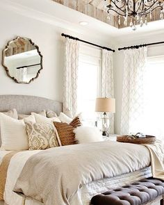 Give me this room!!!! It feels dreamy and soft just from my screen. Oh-my-lanta!!  #goals #farmhouse #bedroom :canadianloghomes.com by _made_simple http://discoverdmci.com