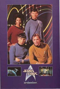 Star Trek 25th Anniversary Cast Portrait 1991 TV Show Poster 24x36 – BananaRoad