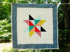 Holly Unisex Patchwork Baby Quilt by HeyBabyCraftCo on Etsy