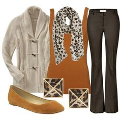 Perfect autumn colours! Love the hint of animal print too! xx