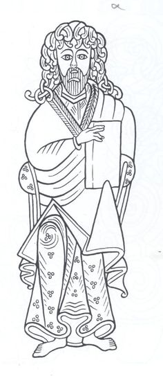 Dessin d coratif celtique du livre de kells coloriage for Book of kells coloring pages