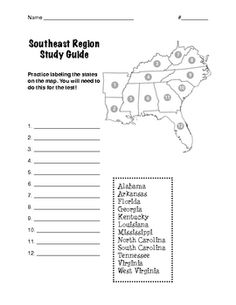 Regions Of The United States Southeast Region Social Studies - Map of southeast us