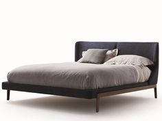 Double bed with upholstered headboard FULHAM | Bed - MOLTENI & C.