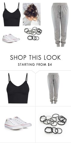 """Outfit Of The Day #9"" by pawlicki16 on Polyvore featuring Converse and scünci"