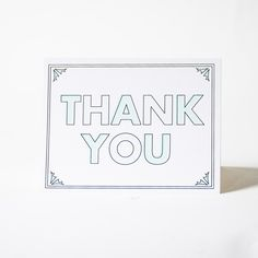 The Paper Cub Deco Style Thank You Card