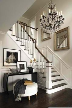 Foyer and staircase, veranda interiors House Design, House, Staircase Decor, Home, Foyer Decorating, Veranda Interiors, House Styles, House Interior, Interior Design