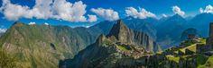 Machu Picchu en omgeving, Peru. Panoramafoto van Rietje Bulthuis