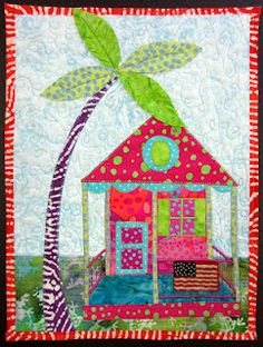 Paradise Conch House by quilt artist Cheryl Lynch from Broomall, PA