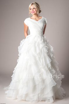 Modest Wedding Dresses :  Mormon LDS Temple Marriage - Casanova