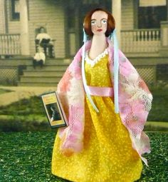 Elizabeth Gaskell Doll Miniature Author Art Collectible via Etsy
