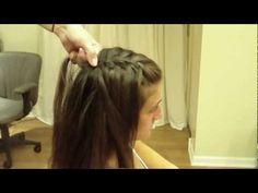 Waterfall French Braid: Hair Tutorial: Easy Half Up Half Down Hairstyle