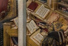 """..., während andere schon Leserbriefe schreiben  (""""Der hl.Hieronymus erscheint dem hl. Augustinus"""", Giovanni di Paolo, um 1465, noch in der ..."""