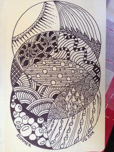 Summer by Vanessa O'Dwyer  2014 Zentangle inspired