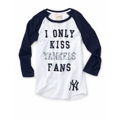 New York Yankees baseball tee ($33) ❤ liked on Polyvore