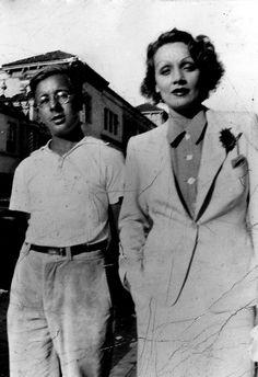 Ray Bradbury and Marlene Dietrich, 1935