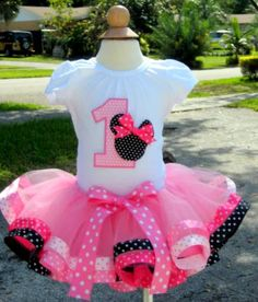Minnie Mouse Ultimate Polkadots Double Ribbon Party Tutu Set
