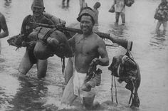 japanese soldiers passing by a small river somewhere in china 1938