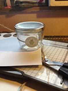 Kleine Verzierung für zB Kuchen im Glas oder Marmelade...