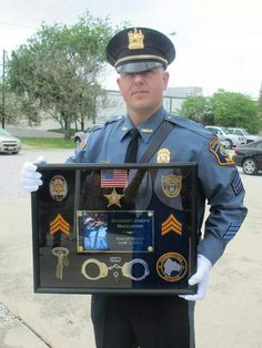 Correction Officer shadow box