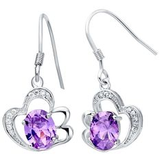 Find More Stud Earrings Information about Summer Style 2015 Womens Fashion Stud Earrings with Amethyst 925 Sterling Silver Ornaments for The Wedding Ulove R164 Haixv,High Quality earring earphones,China earring parts Suppliers, Cheap earrings indian from ULOVE Fashion Jewelry on Aliexpress.com