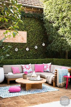 colorful patio