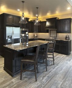 Unique Tile is the Designer's choice for luxury tile and stone. Browse our stock tiles straight from Italy or special order exactly what you need. Expresso Cabinets, Unique Tile, Kirchen, Kitchen Ideas, Home Improvement, Tiles, Luxury, Wood, Furniture