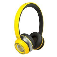 Monster NCredible NTune Neon On-Ear Headphones, Yellow