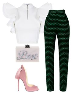 A classic black and white looks is always stylish and chic. Pair the look with statement pumps to add just the right amount of flare. 70s Fashion, Look Fashion, African Fashion, Girl Fashion, Fashion Dresses, Womens Fashion, Fashion Trends, Fashion Tips, Hijab Fashion