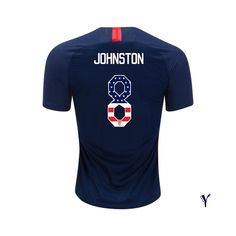 d0a5f3b22 18 19 Youth Julie Johnston Away USA Jersey Independence Day Soccer City