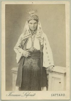 Studio portrait of a woman wearing traditional Christian clothes, © The Austrian Museum of Folk Life and Folk Art. 1860-1900