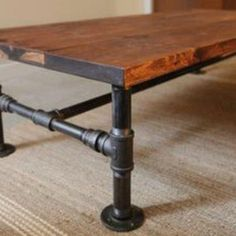 Industrial Black Iron Coffee Table by JSReclaimedWood on Etsy, $321.00