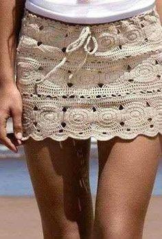 pollera tejida a mano crochet