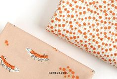 Fox and wild flower fabric Fox pattern Wildflower pattern Scandinavian Fabric, Flower Fabric, Fox Pattern, Wild Flowers, Couture, Diy, Fabrics, Bricolage, Handyman Projects