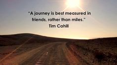 A journey is best measured... #travel #quote