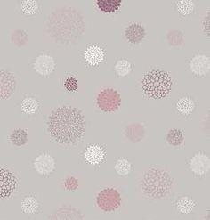 Papier peint gris blanc mauve Fleur de jasmin Sophie Cordier