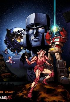 Transformers, old school original series, what I grew up watching tapes of.