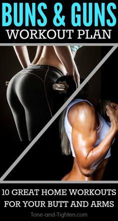 Buns and Guns Workout Plan. tone-and-tighten.com